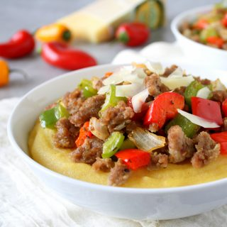 Sausage and Peppers with Polenta