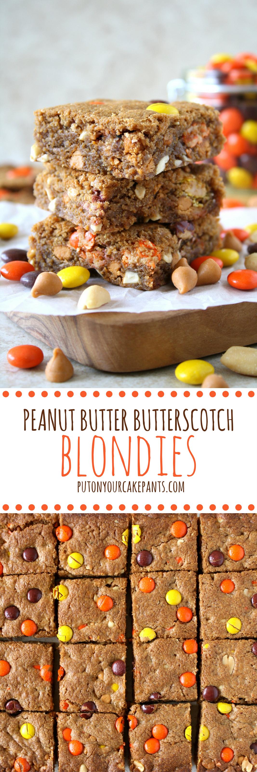 peanut butter butterscotch blondies