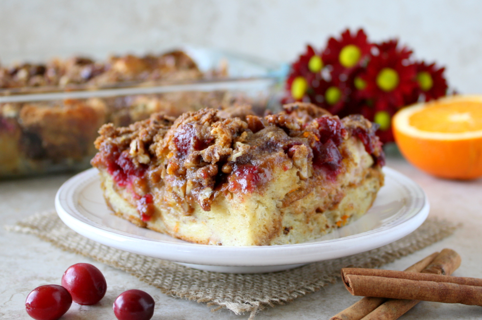 cranberry orange French toast casserole #SameSilkySmoothTaste #shop