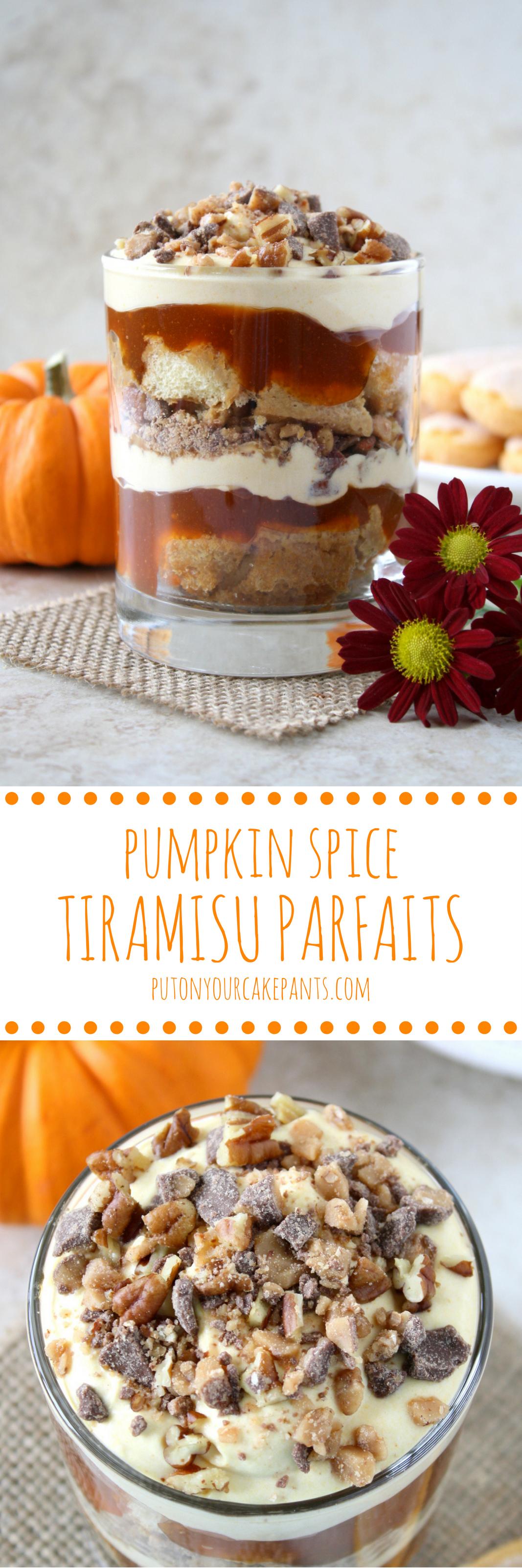 pumpkin spice tiramisu parfaits