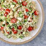 Greek Quinoa Salad with Feta Vinaigrette