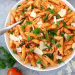 Penne with Quick Green Chile Marinara Sauce